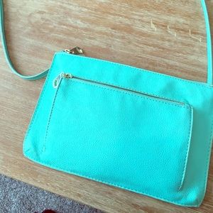 Mint green shoulder purse from H&M